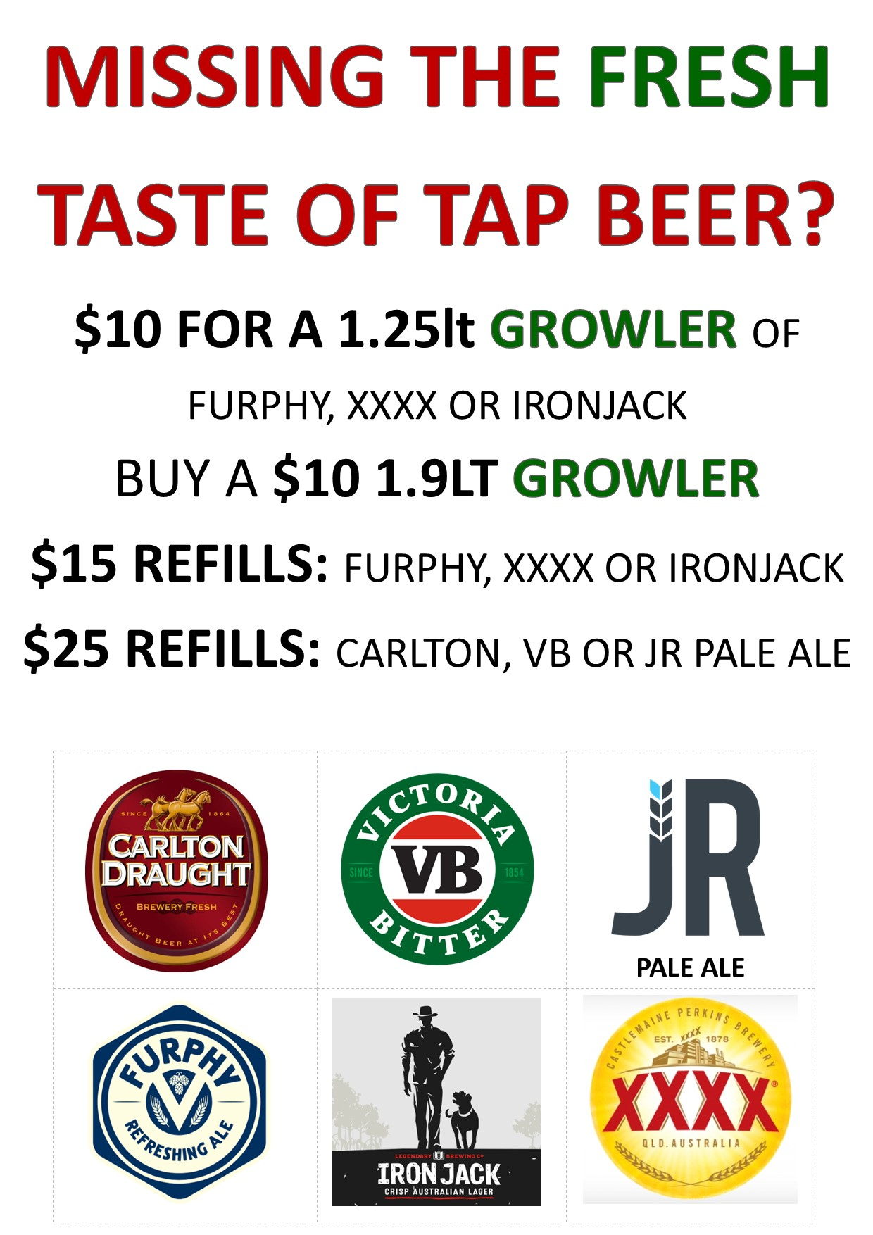 A3 Growler poster mutliple sizes