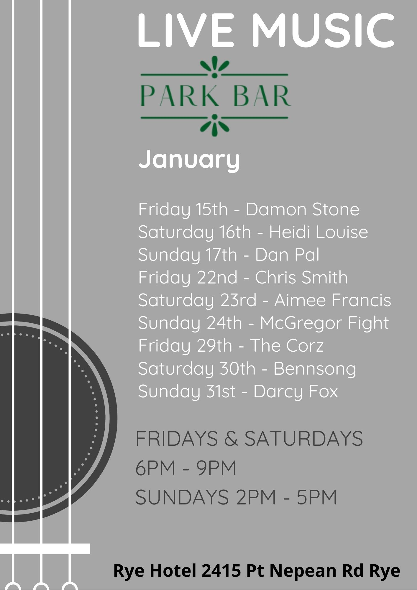 Live Music Poster - 13th January 2021