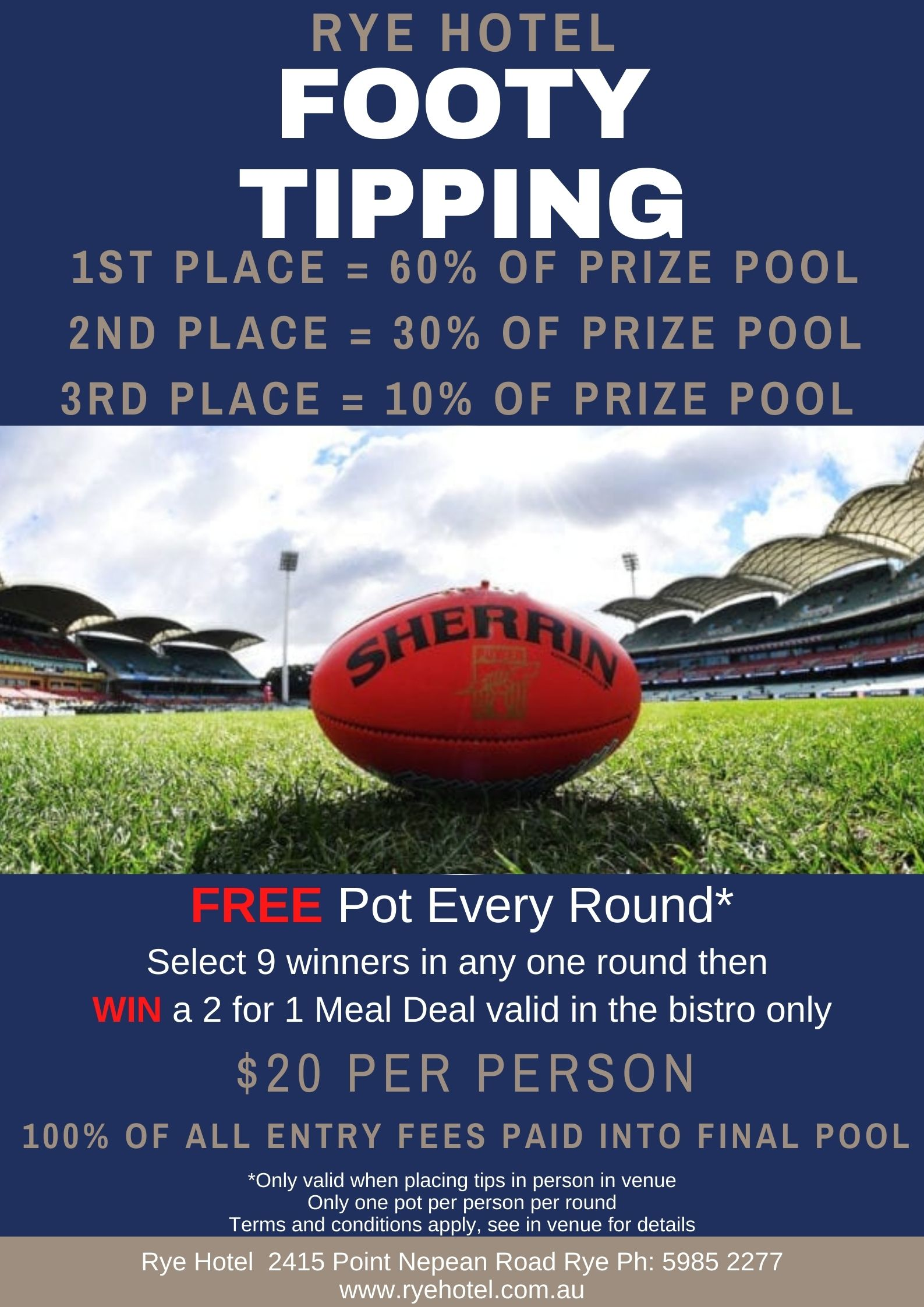 2021 Footy Tipping Poster