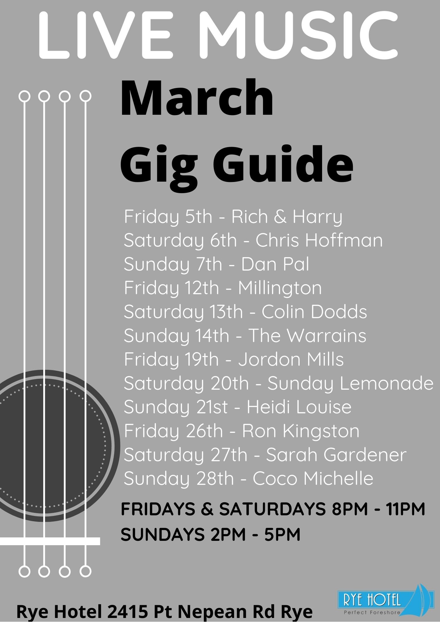 March Live Music Poster