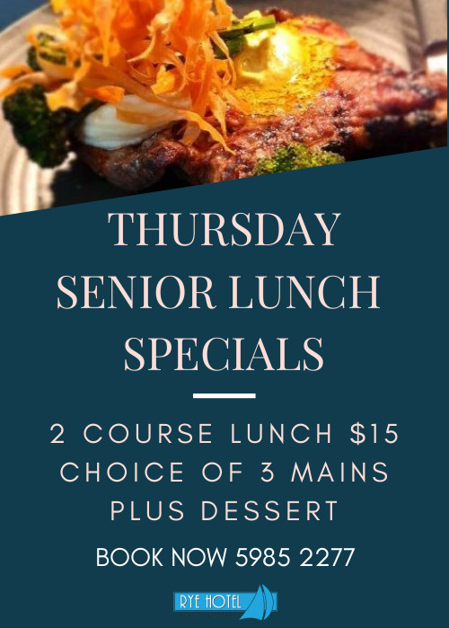 Thursday Senior Lunch Special Poster